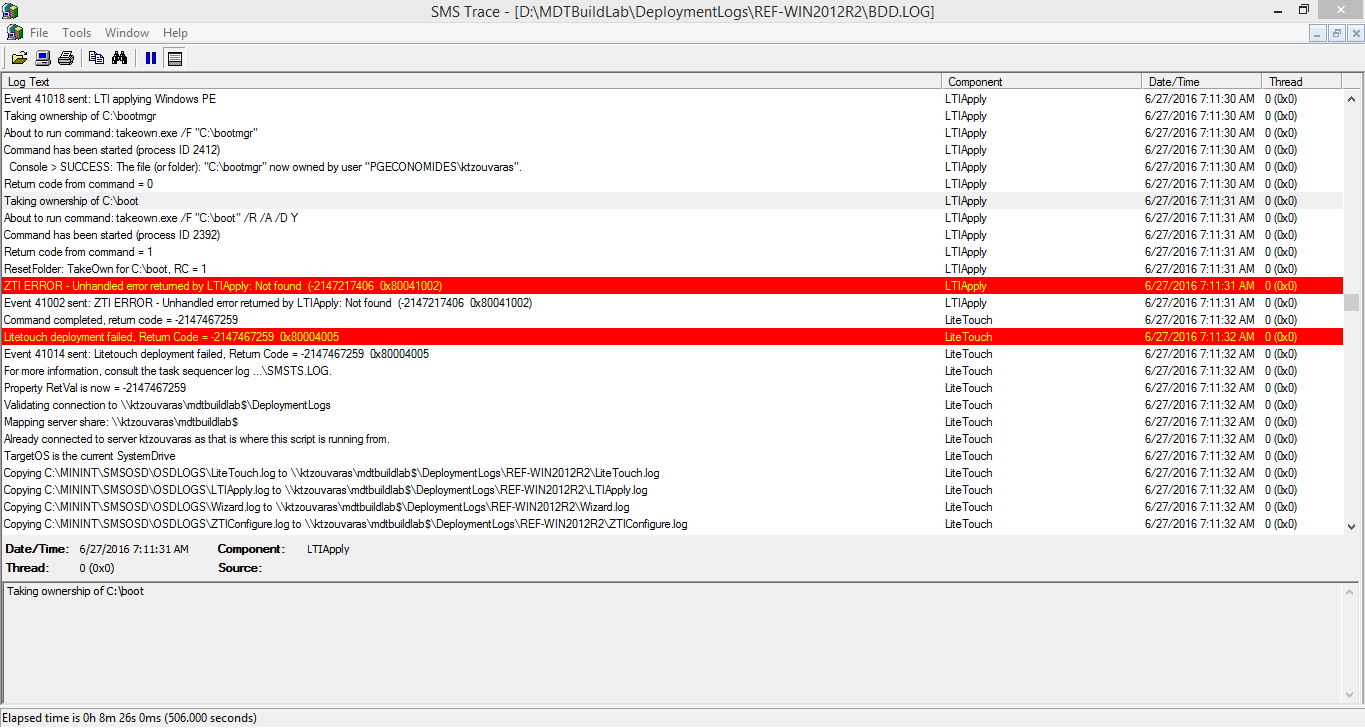 Sysprep and Capture Task Sequence failed in MDT 2013