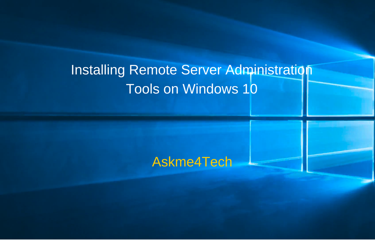 how to add remote server administration tools