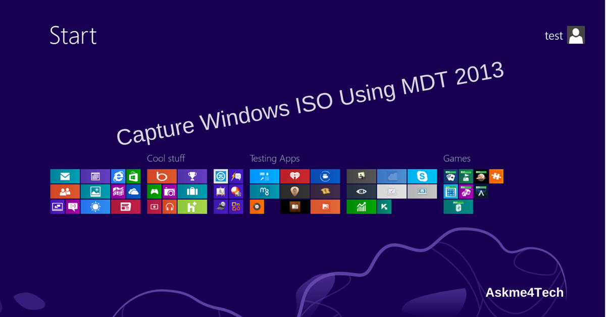 how to capture windows image using mdt 2013 askme4tech. Black Bedroom Furniture Sets. Home Design Ideas