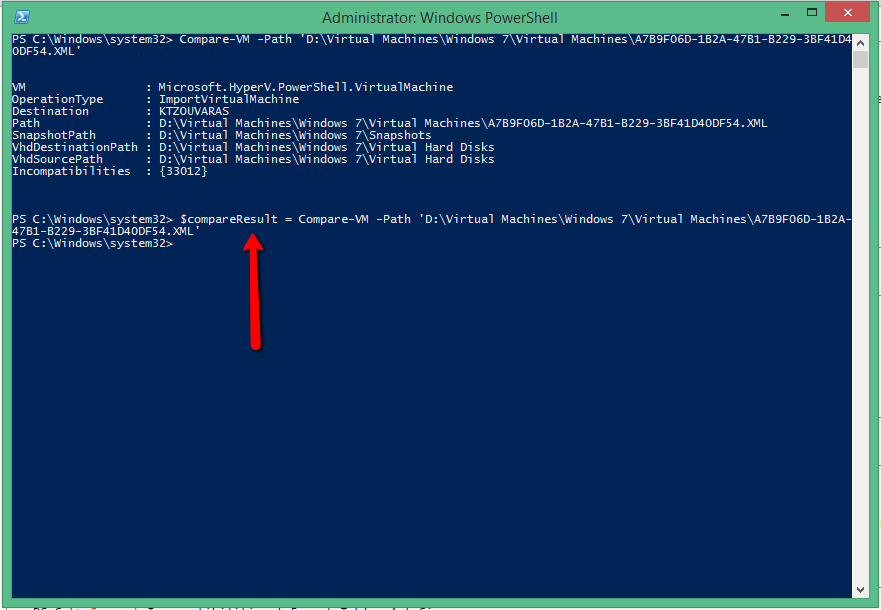 Export & Import Virtual Machine in HYPER-V with Powershell