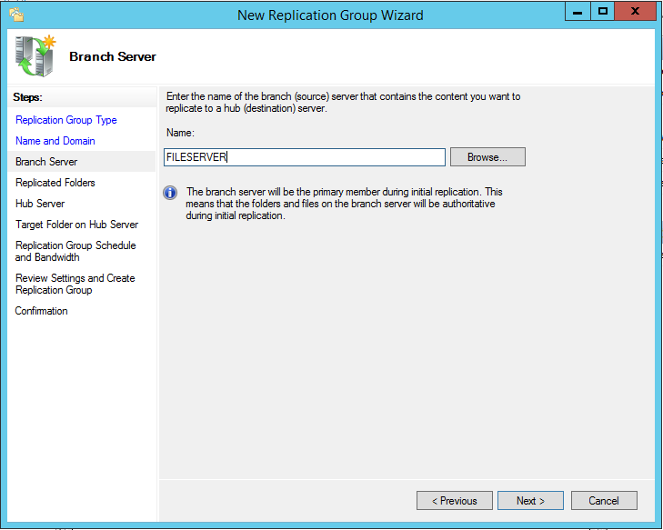 Install and Configure DFS Replication in Windows Server 2012