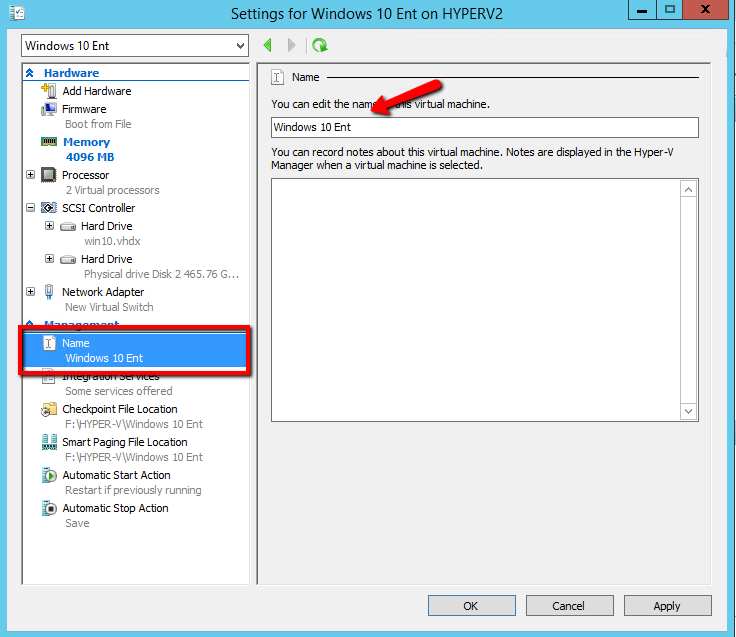 How can use Virtual Machine Settings in HYPER-V | Askme4Tech