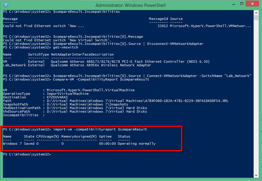Export & Import Virtual Machine in HYPER-V with Powershell | Askme4Tech