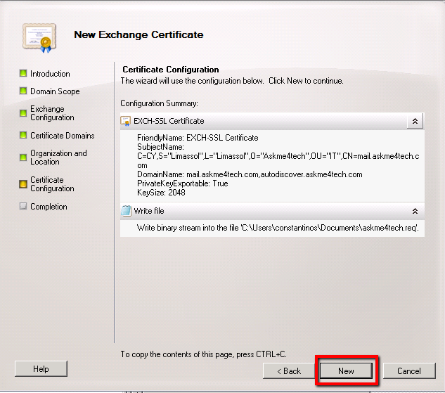 Change Internal Names In Exchange Server For New Ssl Certificate