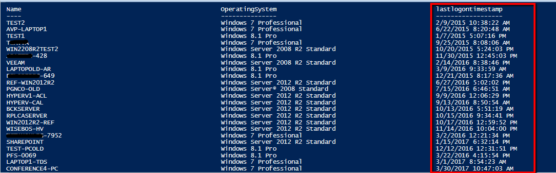Find Inactive Computers in Active Directory with Powershell