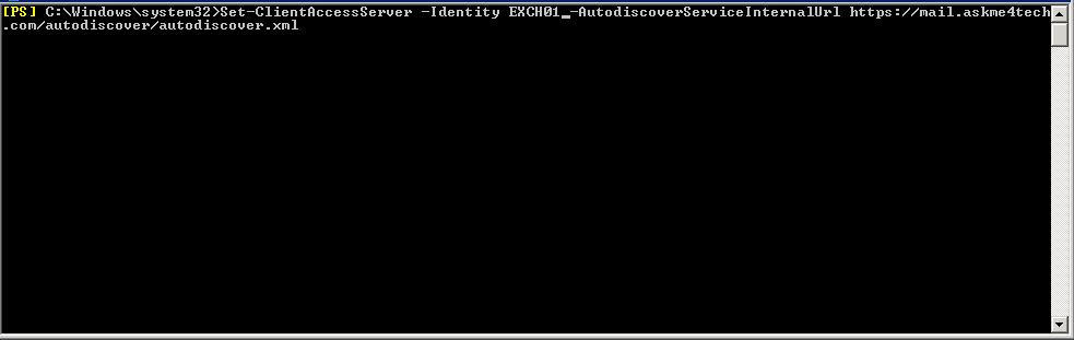 Change Internal Names in Exchange Server for new SSL