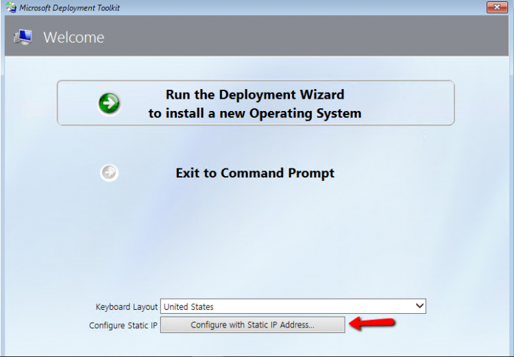 How to Apply Network Settings through Deployment in MDT