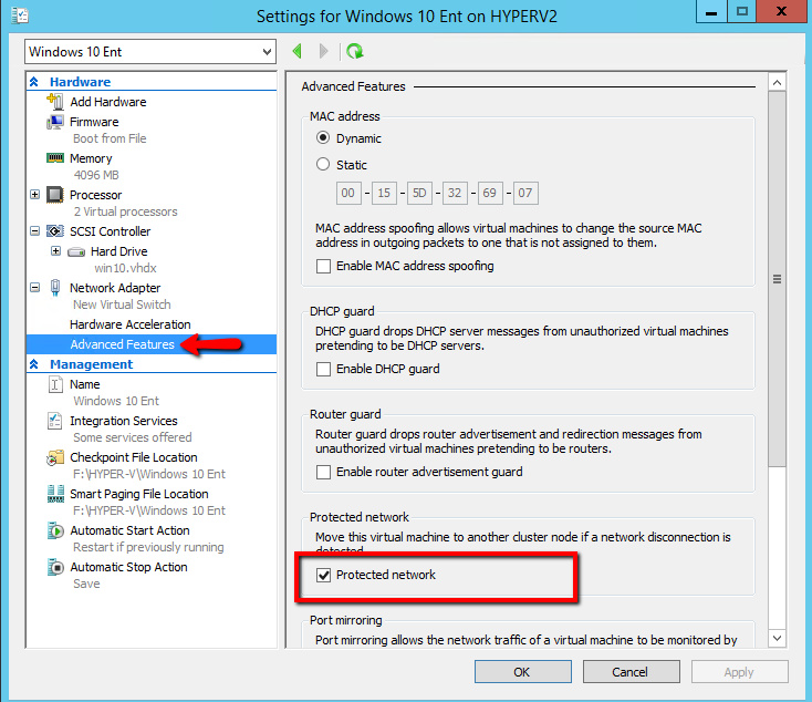 Advance features of HYPER-V Virtual Network Adapter - Part 7