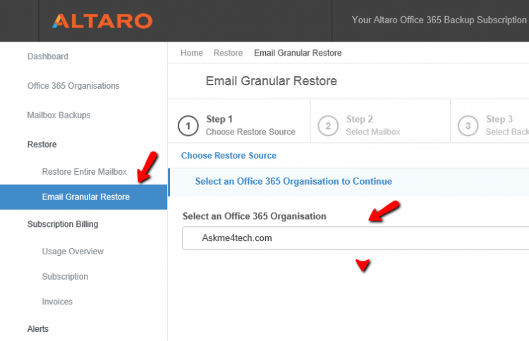How can backup Office365 mailboxes with Altaro   Askme4Tech