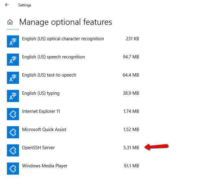 How to install and configure Open SSH Server in Windows 10