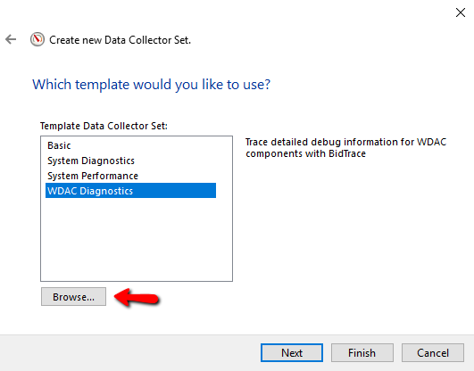 Import xml template in Performance monitor - Step 3
