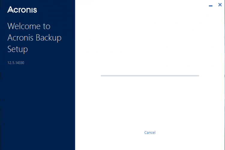 Setup Acronis Backup 12.5 - Step 3