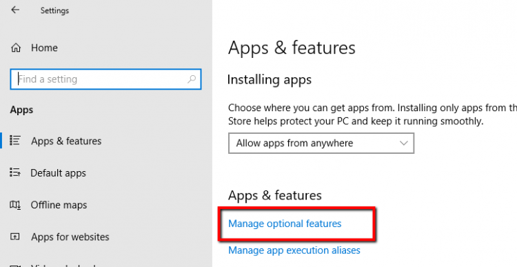 Windows 10 cannot open apps and features