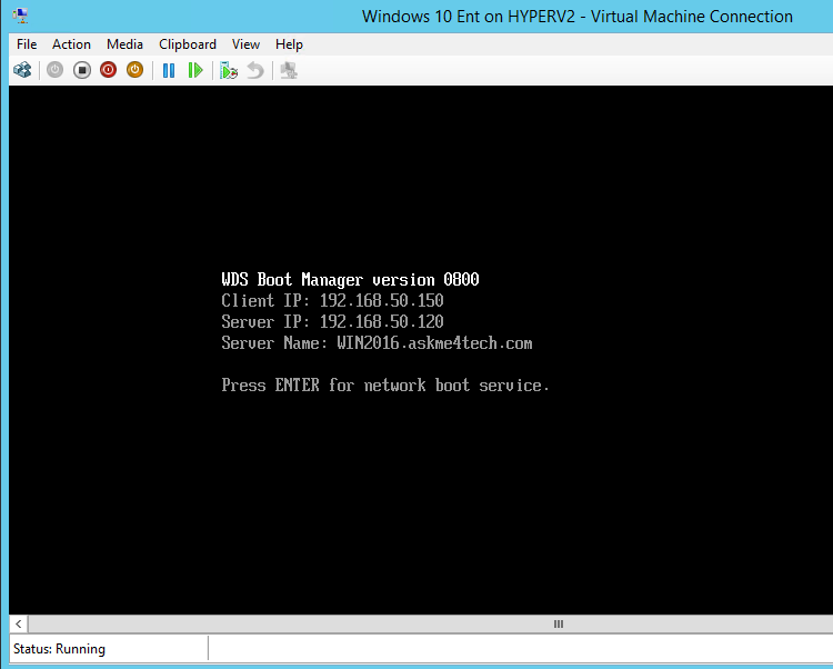 Network Boot Windows 10