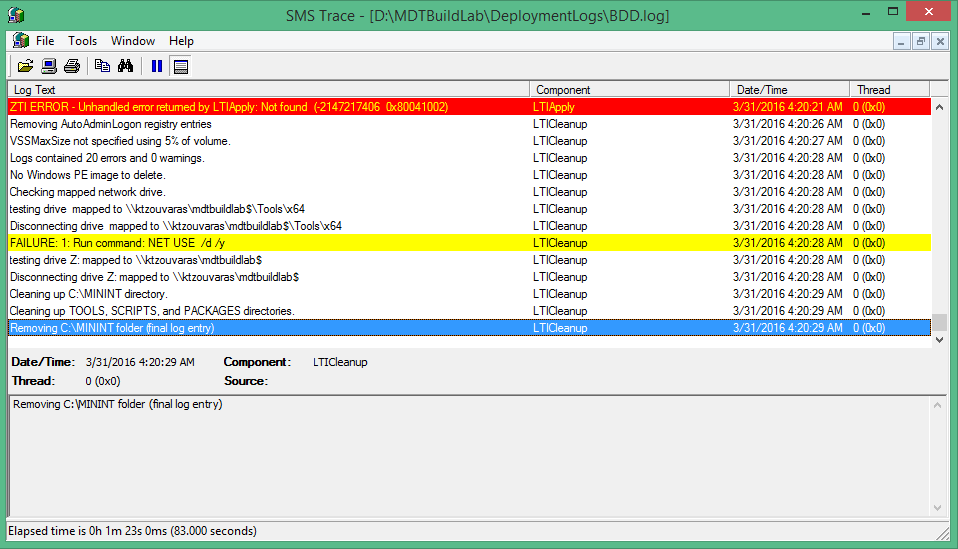 Enable Deployment Logs for Troubleshooting in MDT 2013 | Askme4Tech