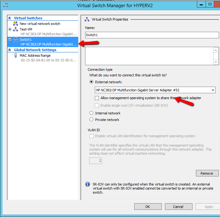 How can create Virtual Network Interfaces in HYPER-V | Askme4Tech