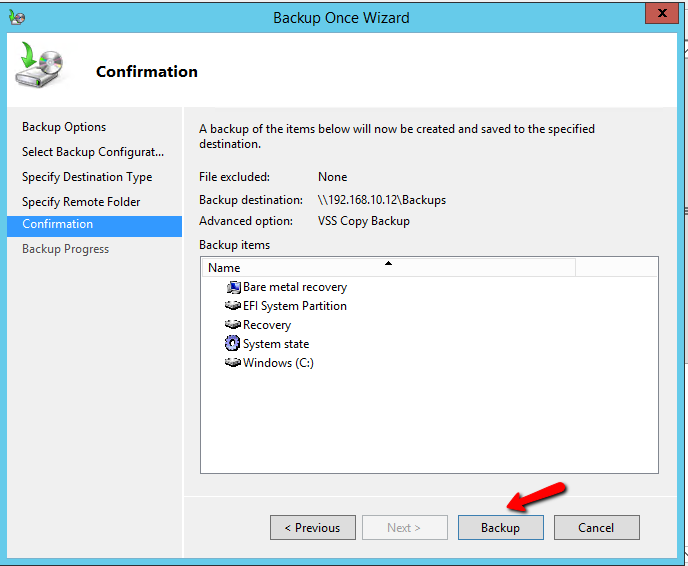 how to open a restored windows image backup